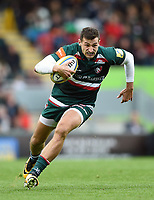 Jonny May of Leicester Tigers in possession. Aviva Premiership match, between Leicester Tigers and Gloucester Rugby on September 16, 2017 at Welford Road in Leicester, England. Photo by: Patrick Khachfe / JMP