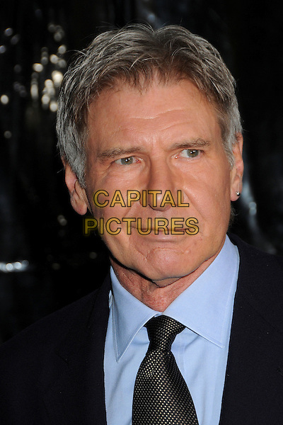 "HARRISON FORD .""Extraordinary Measures"" Los Angeles Premiere held at Grauman's Chinese Theatre, Hollywood, California, USA..January 19th, 2010.headshot portrait black blue .CAP/ADM/BP.©Byron Purvis/AdMedia/Capital Pictures."