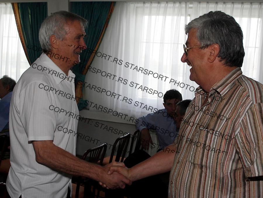 Fudbal, Skupstina FK Partizan.Milutin Soskic, left and Hatunic, right.Beograd, 26.06.2007..foto: Srdjan Stevanovic