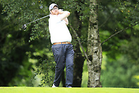 David Barron (Warrenpoint) during the final  of the Ulster Mixed Foursomes at Killymoon Golf Club, Belfast, Northern Ireland. 26/08/2017<br /> Picture: Fran Caffrey / Golffile<br /> <br /> All photo usage must carry mandatory copyright credit (&copy; Golffile | Fran Caffrey)