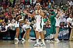 01 APRIL 2012:  Skylar Diggins (4) of the University of Notre Dame celebrates the Fighting Irish victory over the University of Connecticut during the Division I Women's Final Four Semifinals at the Pepsi Center in Denver, CO.  Notre Dame defeated UCONN 83-75 to advance to the national championship game.  Jamie Schwaberow/NCAA Photos
