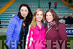 Helen O'Sullivan, Katie Lis Ní Bheaglaoich Karen Cooper Myers, Dr Crokes supporters pictured at the Garvey's Senior Football Championship, Dr Crokes v South Kerry, at the Austin Stack Park, Tralee on Sunday last.