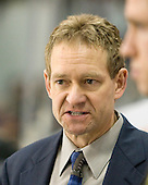 Tim Whitehead (Maine - Head Coach) - The Boston University Terriers defeated the University of Maine Black Bears 1-0 (OT) on Saturday, February 16, 2008 at Agganis Arena in Boston, Massachusetts.