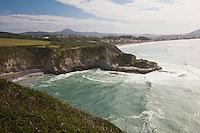 Europe/France/Aquitaine/64/Pyrénées-Atlantiques/Pays-Basque/Hendaye: Domaine d'Abbadia - le littoral vu depuis le sentier littoral