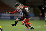 Sheffield United's George Cantrill and Crewe's Luke Walley in action during the FA Youth Cup First Round match at Bramall Lane Stadium, Sheffield. Picture date: November 1st 2016. Pic Richard Sellers/Sportimage