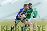 Denis Daly Kerry in action against David Ward Limerick in the Final of the McGrath Cup at the Gaelic Grounds on Sunday.