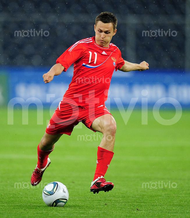 FUSSBALL INTERNATIONAL  EM 2012 Freundschaftsspiel  07.06.2011 Russland - Kamerun Alexander Ryazantsev (Russland)