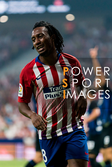 Gelson Martins of Atletico de Madrid reacts during their International Champions Cup Europe 2018 match between Atletico de Madrid and FC Internazionale at Wanda Metropolitano on 11 August 2018, in Madrid, Spain. Photo by Diego Souto / Power Sport Images