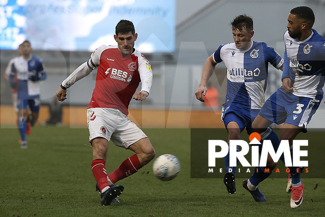 Ched Evans of Fleetwood Town during the Sky Bet League 1 match between Bristol Rovers and Fleetwood Town at the Memorial Stadium, Bristol, England on 25 January 2020. Photo by Dave Peters / PRiME Media Images.
