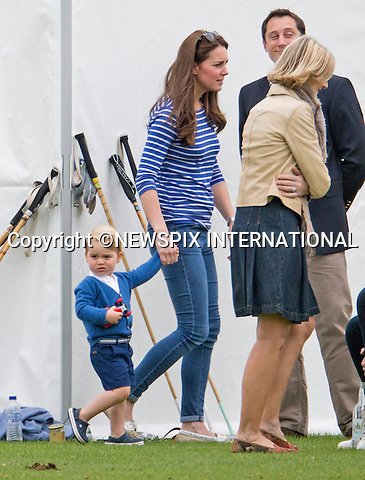 14.06.2015;London, UK: PRINCE GEORGE HAS FUN AT POLO<br /> Kate Middleton brought Prince George along to a playtime with his cousins Mia Tindall, Savannah and Isla Phillips and family members at a charity polo event.<br /> Other royals present included Prince Charles, Peter Phillips, Autumn Phillips, Zara Phillips and husband Mike Tindal.<br /> Prince George and Kate were watching Princes William and Harry play in a charity polo match.<br /> Month old Princess Charlotte was no way to be seen.<br /> Mandatory Photo Credit: NEWSPIX INTERNATIONAL<br /> <br /> **ALL FEES PAYABLE TO: &quot;NEWSPIX INTERNATIONAL&quot;**<br /> <br /> PHOTO CREDIT MANDATORY!!: NEWSPIX INTERNATIONAL(Failure to credit will incur a surcharge of 100% of reproduction fees)<br /> <br /> IMMEDIATE CONFIRMATION OF USAGE REQUIRED:<br /> Newspix International, 31 Chinnery Hill, Bishop's Stortford, ENGLAND CM23 3PS<br /> Tel:+441279 324672  ; Fax: +441279656877<br /> Mobile:  0777568 1153<br /> e-mail: info@newspixinternational.co.uk