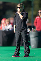 STANFORD, CA - November 4, 2011: Head Coach Tara Danielson during the Stanford vs. Davidson in the second round of  the  NorPac Championship at the Varsity Turf on the Stanford campus Friday afternoon.<br /> <br /> Stanford defeated Davidson 7-2.