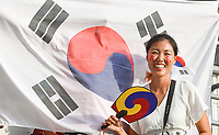 20190617 - REIMS , FRANCE : Illustration picture shows the fans  pictured during the female soccer game between Korea Republic  and Norway , the 3th game for both teams in group C during the FIFA Women's  World Championship in France 2019, Monday 17th June 2019 at the Auguste Delaune Stadium in Reims , France .  PHOTO SPORTPIX.BE | DIRK VUYLSTEKE
