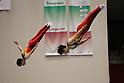 (L to R) Takashi Sakamoto (JPN), Yasuhiro Ueyama (JPN), JULY 9, 2011 - Trampoline : 2011 FIG Trampoline World Cup Series Kawasaki Men's Synchro Final at Todoroki Arena, Kanagawa, Japan. (Photo by YUTAKA/AFLO SPORT) [1040]