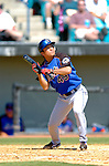 18 March 2006: Yusaku Iriki, pitcher for the New York Mets, attempts to bunt during a Spring Training game against the Washington Nationals at Space Coast Stadium, in Viera, Florida. The Nationals defeated the Mets 10-2 in Grapefruit League play...Mandatory Photo Credit: Ed Wolfstein Photo..