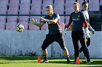 20171023 - PENAFIEL , PORTUGAL :  Belgian Justien Odeurs pictured during the matchday -1 training session of the Belgian national women's soccer team Red Flames prior to the game against the women's team of Portugal , on monday 23 October 2017 at Estádio Municipal 25 de Abril in Penafiel. The Red Flames are playing their third game in the Worldcup 2019 France qualification against Portugal. PHOTO SPORTPIX.BE | DAVID CATRY