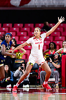 College Park, MD - NOV 29, 2017: Maryland Terrapins forward Shakira Austin (1) calls for the ball in the post during ACC/Big Ten Challenge game between Gerogia Tech and the No. 7 ranked Maryland Terrapins. Maryland defeated The Yellow Jackets 67-54 at the XFINITY Center in College Park, MD.  (Photo by Phil Peters/Media Images International)