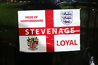 Stevenage Loyal sticker during Stevenage vs Brighton & Hove Albion Under-21, Checkatrade Trophy Football at the Lamex Stadium on 7th November 2017