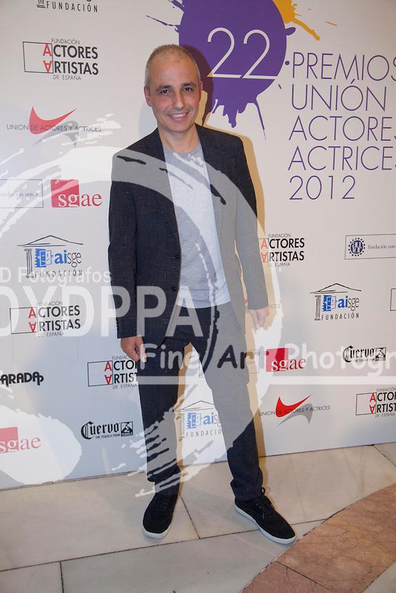 03/06/2013 Madrid, Spain Photocall 22 edición de los premios de la Union de Actores en la foto Pablo Berger, la entrega de premios se ha realizado en el Teatro Arteria Coliseum (C) Nacho Lopez/ DyD Fotografos