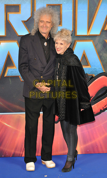 Brian May and Anita Dobson at the &quot;Guardians of The Galaxy Vol. 2&quot; European gala film premiere, Hammersmith Apollo (Eventim Apollo), Queen Caroline Street, London, England, UK, on Monday 24 April 2017.<br /> CAP/CAN<br /> &copy;CAN/Capital Pictures