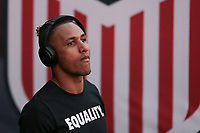 Carson, CA - Sunday January 28, 2018: Juan Agudelo prior to an international friendly between the men's national teams of the United States (USA) and Bosnia and Herzegovina (BIH) at the StubHub Center.