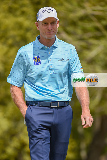 Jim Furyk (USA) after draining his putt on 1 during day 1 of the WGC Dell Match Play, at the Austin Country Club, Austin, Texas, USA. 3/27/2019.<br /> Picture: Golffile   Ken Murray<br /> <br /> <br /> All photo usage must carry mandatory copyright credit (© Golffile   Ken Murray)