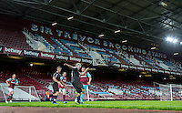 General view of play during West Ham United supporters say farewell to the Boleyn ground playing a friendly match on the pitch at the Boleyn Ground, London, England on 20 May 2016. Photo by Andy Rowland.