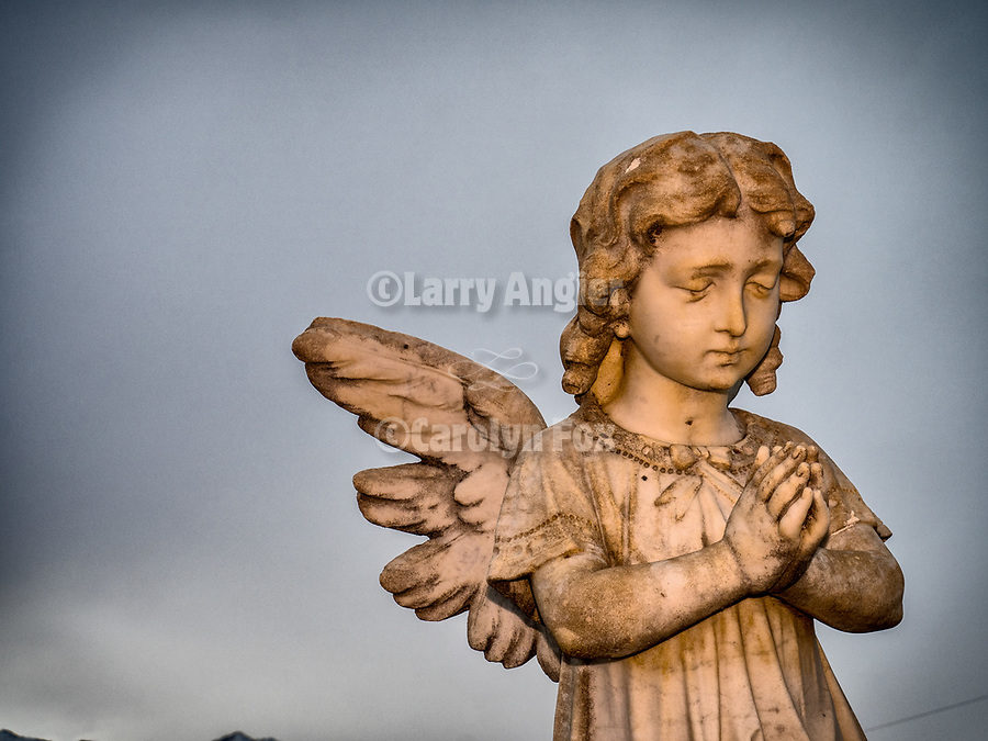 Angel tombstones in the cemetery, Paradise Valley, Nev.