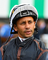 Jockey Royston French during Evening Racing at Salisbury Racecourse on 3rd September 2019