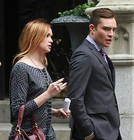August 17, 2012 Kaylee Defer, Ed Westwick  shooting on location for Gossip Girl in New York City. &copy; RW/MediaPunch Inc. /NortePhoto.com<br /> <br /> **SOLO*VENTA*EN*MEXICO**<br /> **CREDITO*OBLIGATORIO** <br /> *No*Venta*A*Terceros*<br /> *No*Sale*So*third*<br /> *** No Se Permite Hacer Archivo**<br /> *No*Sale*So*third*