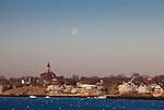 Abbot Hall over Marblehead Harbor at sunrise, Marblehead, MA, USA