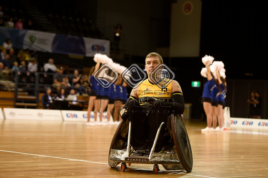 Opening Ceremony - Andrew Harrison (Aus)<br /> Australian Wheelchair Rugby Team<br /> 2018 IWRF WheelChair Rugby <br /> World Championship / Day 1<br /> Sydney  NSW Australia<br /> Sunday 5th August 2018<br /> © Sport the library / Jeff Crow / APC