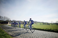 reconnaissance of the 2016 Het Nieuwsblad parcours with Wanty-Groupe Gobert