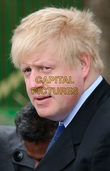 BORIS JOHNSON .Photocall to launch this year's Big Lunch initiative, London, England..March 9th, 2011.London Mayor headshot portrait black.CAP/CJ.©Chris Joseph/Capital Pictures.