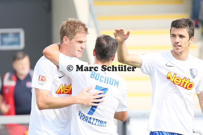 Torjubel um Simon Terodde (Bochum) beim 1:4 - FSV Frankfurt vs. VfL Bochum, Frankfurter Volksbank Stadion