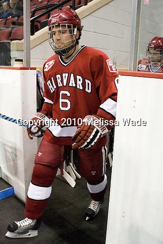 Ryan Grimshaw (Harvard - 6) - The Boston University Terriers defeated the visiting Harvard University Crimson 5-2 on Saturday, January 15, 2011, at Agganis Arena in Boston, Massachusetts.