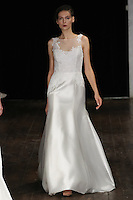 """Model walks runway in an """"Always"""" bridal gown from the Alyne by Rita Vinieris Fall 2017 collection on October 7th, 2016 during New York Bridal Fashion Week."""