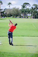 Mark Wilson (USA) watches his tee shot on 10 during round 1 of the Honda Classic, PGA National, Palm Beach Gardens, West Palm Beach, Florida, USA. 2/23/2017.<br /> Picture: Golffile | Ken Murray<br /> <br /> <br /> All photo usage must carry mandatory copyright credit (&copy; Golffile | Ken Murray)