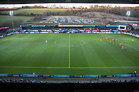 General view of play during the Sky Bet League 2 match between Wycombe Wanderers and Newport County at Adams Park, High Wycombe, England on 2 January 2017. Photo by Andy Rowland.