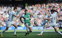28/05/2016;Guinness Pro12 Final<br /> Connacht&rsquo;s Robbie Henshaw with Johnny Sexton and Garry Ringrose of Leinser.<br /> Photo Credit: actionshots.ie/Tommy Grealy