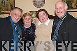 Night Out: Enjoying Womens Christmas in The Arms Hotel, Listowel, on Saturday night were Jack and Bernie Walsh, Moyvane, Mary and Brendan OCallaghan, Lyreacrompane..