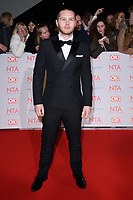 Danny Walters<br /> arriving for the National Television Awards 2018 at the O2 Arena, Greenwich, London<br /> <br /> <br /> ©Ash Knotek  D3371  23/01/2018