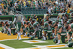 Baylor Bears in action before the game between the Duke Blue Devils and the Baylor Bears at the McLane Stadium in Waco, Texas.