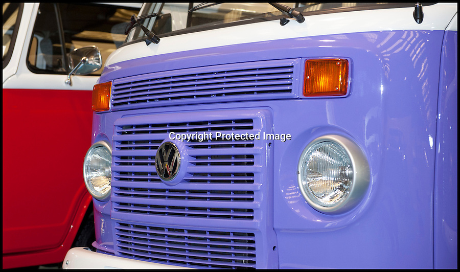BNPS.co.uk (01202 558833)<br /> Pic: LauraJones/BNPS<br /> <br /> The last ever delivery of brand new Volkswagen campervans has arrived in Britain marking the end of an era for the iconic 'hippy bus'.<br /> <br /> Ninety nine of the final batch of vans rolled off the production line and onto a container ship bound for British shores after manufacture ceased for good in Brazil in December.<br /> <br /> And though the consignment has only just arrived, almost all of the vans have already been snapped up by eager buyers happy to fork out the £35,000 starting price.<br /> <br /> They are the last brand new campers in all of Europe.