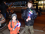 Kobi and Evan Hannon pictured at the fireworks display at Scotch Hall. Photo:Colin Bell/pressphotos.ie