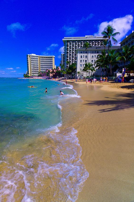 Waikiki Beach, Honolulu, Oahu, Hawaii, USA