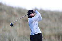 Josh Black (Lisburn) on the 11th tee during Round 3 of the Ulster Boys Championship at Portrush Golf Club, Portrush, Co. Antrim on the Valley course on Thursday 1st Nov 2018.<br /> Picture:  Thos Caffrey / www.golffile.ie<br /> <br /> All photo usage must carry mandatory copyright credit (&copy; Golffile | Thos Caffrey)