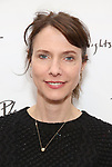 Dolly Wells attends the photo call for Playwrights Horizons world premiere production of 'Log Cabin' on May 8, 2018 at Playwrights Horizons rehearsal hall in New York City.