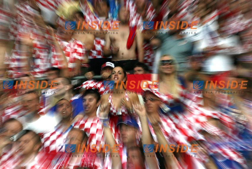 MG Vienna ( Austria) 20/06/2008  - Euro 2008 / Croazia-Turchia/ Foto Andrea Staccioli / Insidefoto<br /> Nella foto: Tifosi Croazia