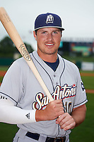 San Antonio Missions outfielder Hunter Renfroe (10) poses for a photo before a game against the NW Arkansas Naturals on May 30, 2015 at Arvest Ballpark in Springdale, Arkansas.  San Antonio defeated NW Arkansas 5-1.  (Mike Janes/Four Seam Images)