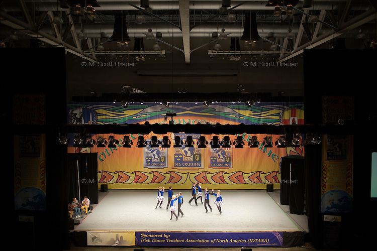 Teams compete in the Senior Mixed Ceili competition the 2013 World Championships for Irish Dancing in Boston, Massachusetts, USA.  The 2013 competition in Boston is the second time in the competition's 43-year history that the event has been held in the United States.
